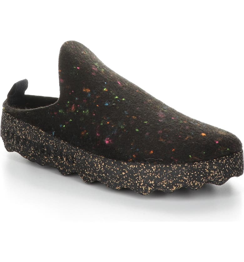 ASPORTUGUESAS BY FLY LONDON Fly London Come Sneaker Mule, Main, color, BLACK FABRIC