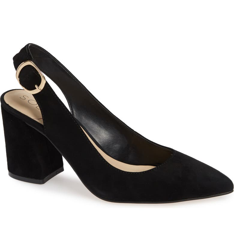 SOLE SOCIETY Trudie Slingback Pump, Main, color, 001
