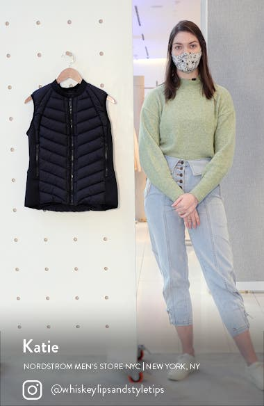 Neoprene Trim Channel Quilted Vest, sales video thumbnail