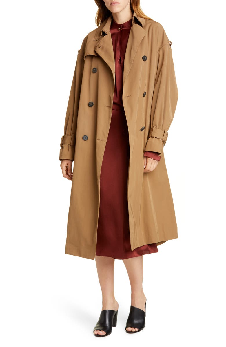 VINCE Belted Technical Trench Coat, Main, color, 246
