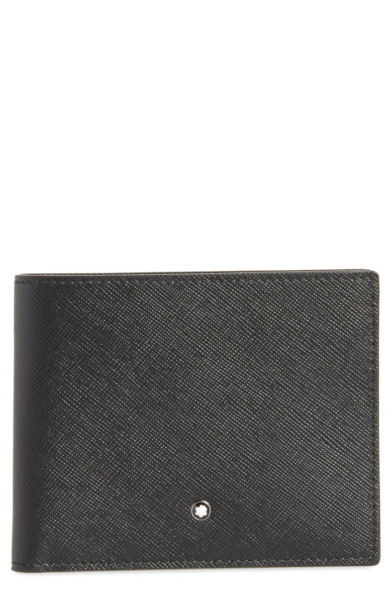 MONTBLANC Sartorial Leather Bifold Wallet, Main, color, BLACK