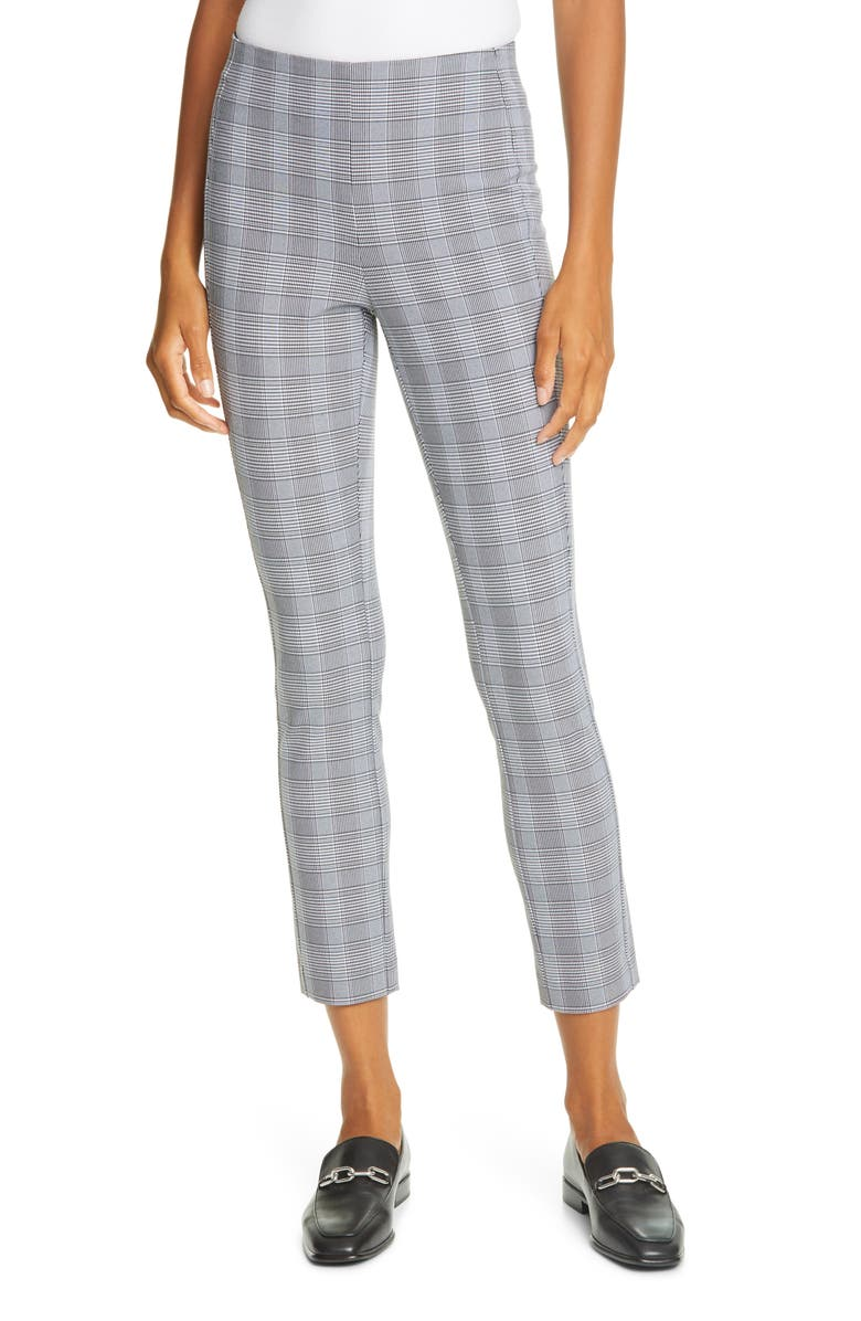 RAG & BONE Simone Glen Plaid Pants, Main, color, BLACK MULTI PLAID
