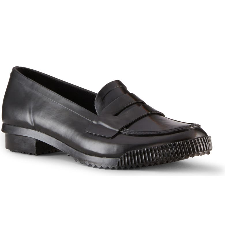 COUGAR Ritz Waterproof Penny Loafer, Main, color, BLACK RUBBER