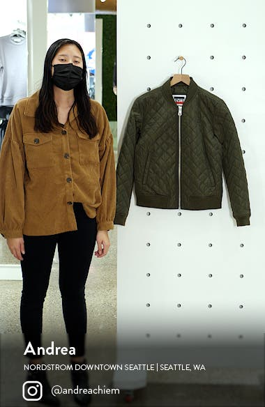 Levi's? Quilted Bomber Jacket, sales video thumbnail