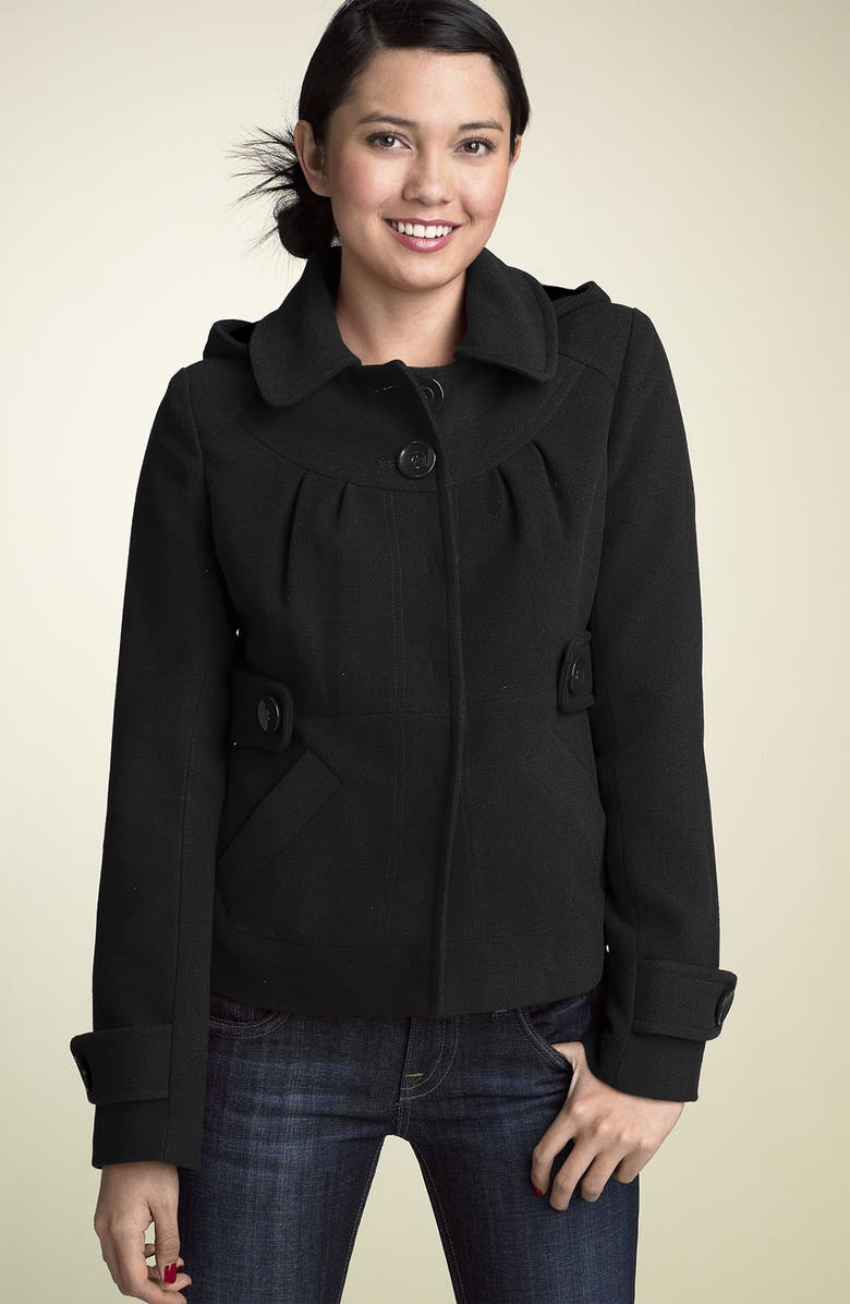 TULLE 'Marley' Hooded Coat, Main, color, 001