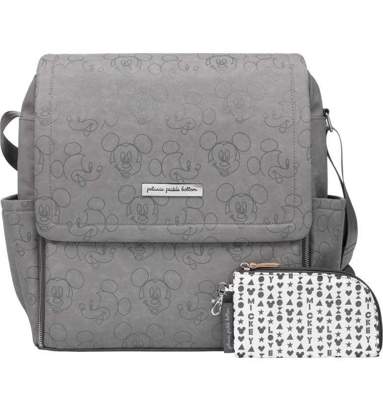 PETUNIA PICKLE BOTTOM x Disney<sup>®</sup> Mickey Mouse Boxy Diaper Bag, Main, color, LOVE MICKEY MOUSE