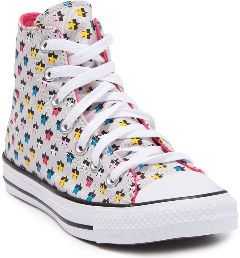 CONVERSE Star High-Top Sneaker, Main, color, MOUSE/BLACK/WHITE