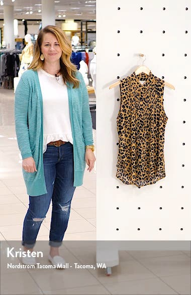 Print Pleated Top, sales video thumbnail