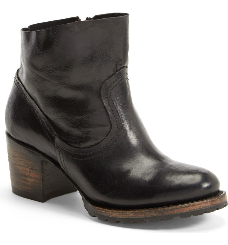 FREEBIRD BY STEVEN 'Flint' Distressed Ankle Bootie, Main, color, BLACK LEATHER