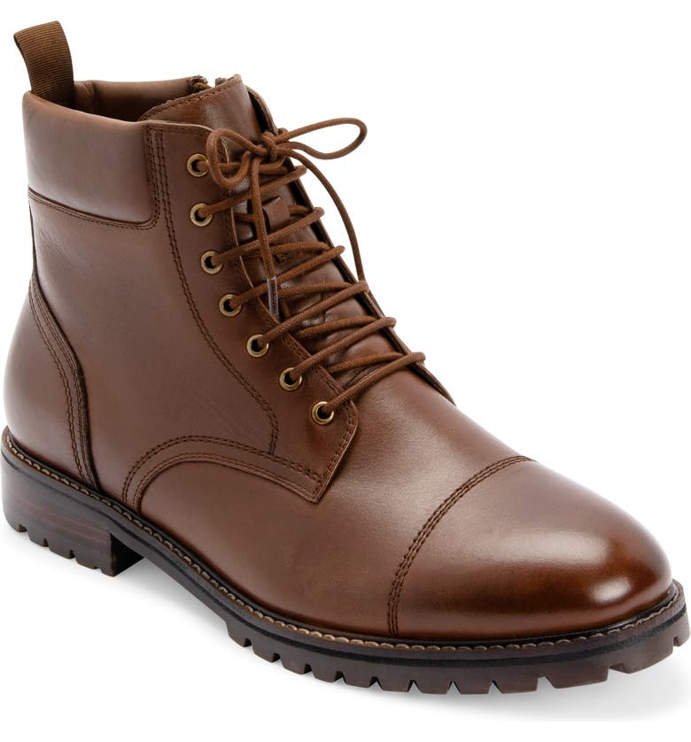 BLONDO Laurence Waterproof Boot, Main, color, LIGHT BROWN LEATHER