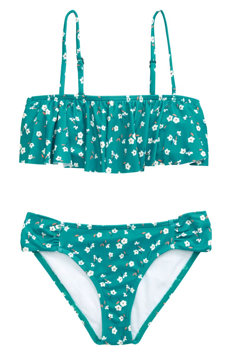 BILLABONG Letting Go Ruffle Two-Piece Swimsuit, Main, color, SEA GREEN