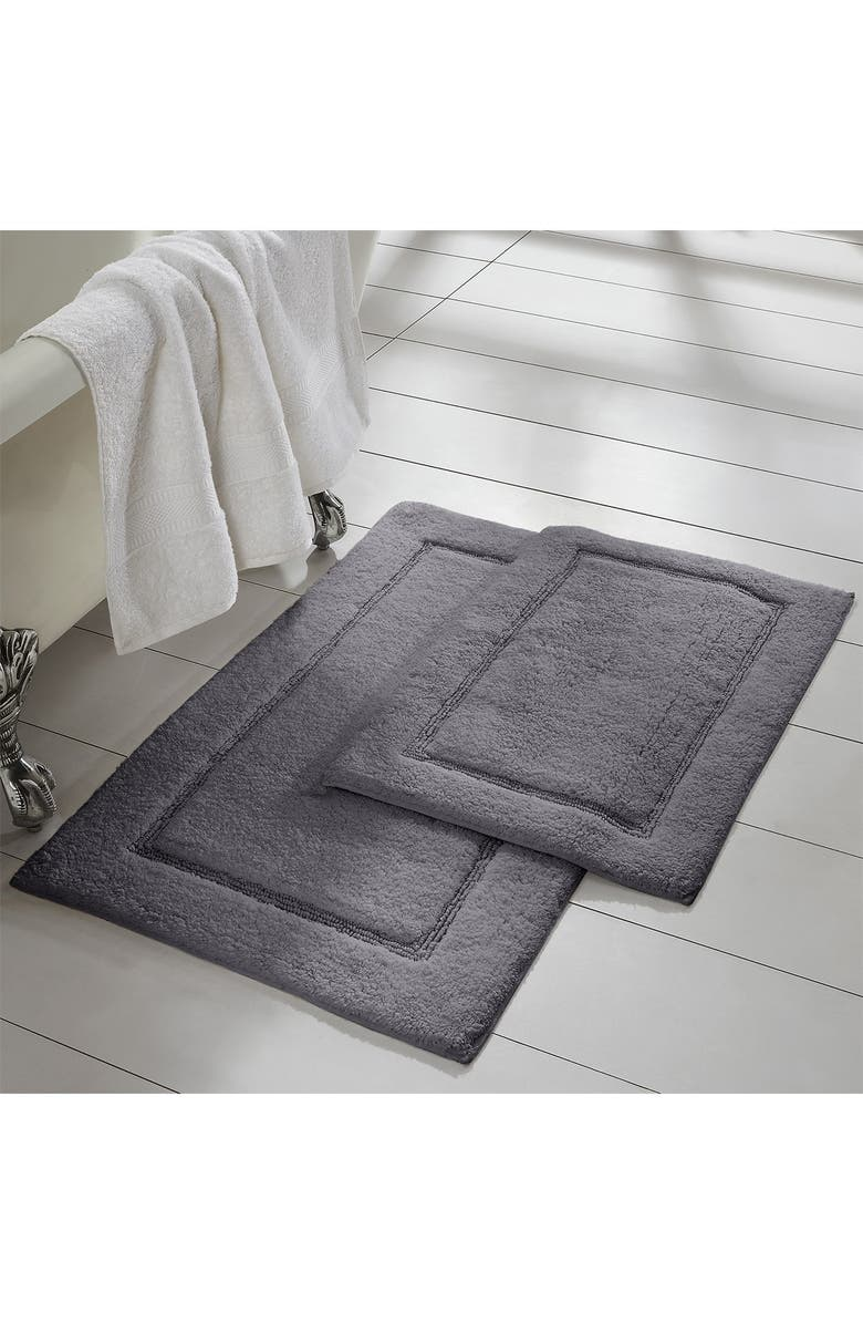 MODERN THREADS Charcoal Solid Loop Non-Slip Bath Mat 2-Piece Set, Main, color, CHARCOAL