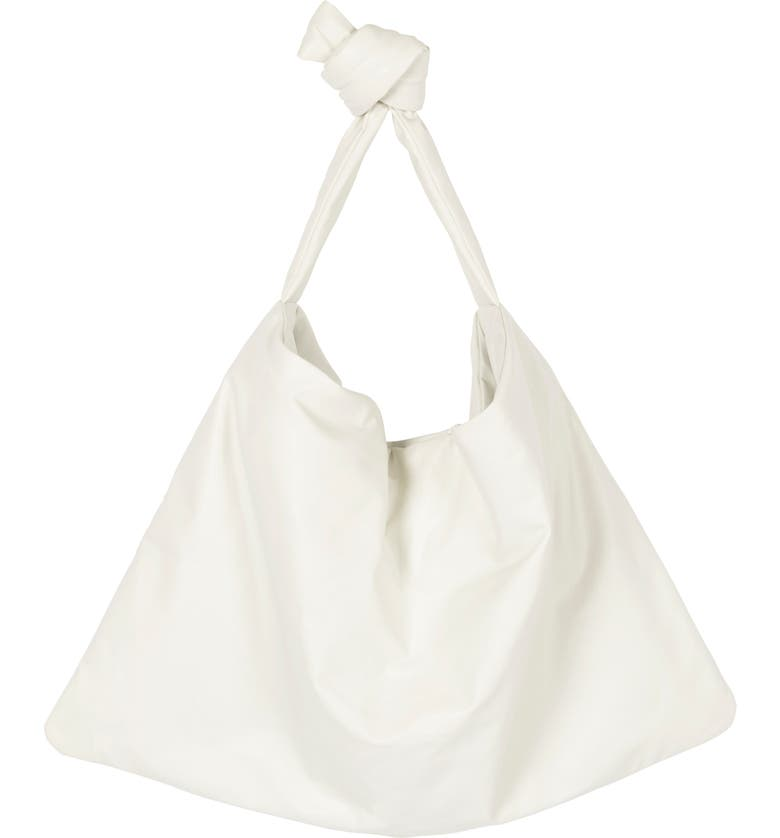 KASSL Small Square Oiled Canvas Bag, Main, color, WHITE 0000