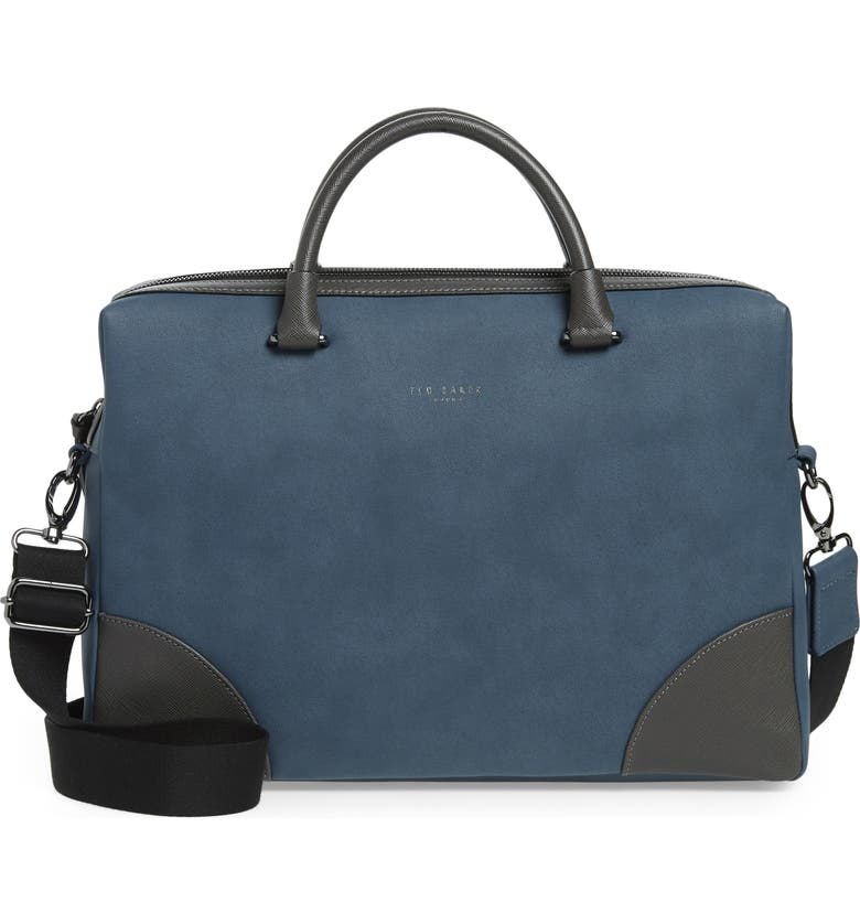 TED BAKER LONDON Dayof Briefcase, Main, color, BLUE