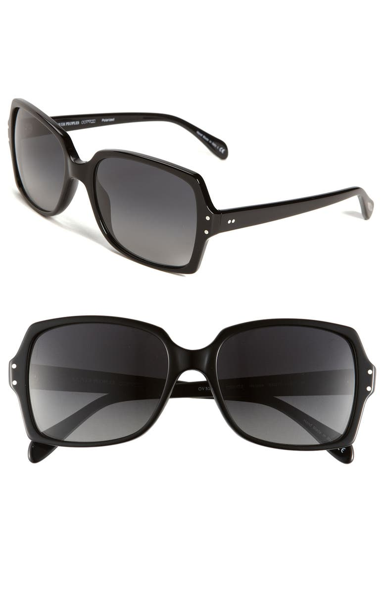 OLIVER PEOPLES 'Helaine' 56mm Sunglasses, Main, color, 001