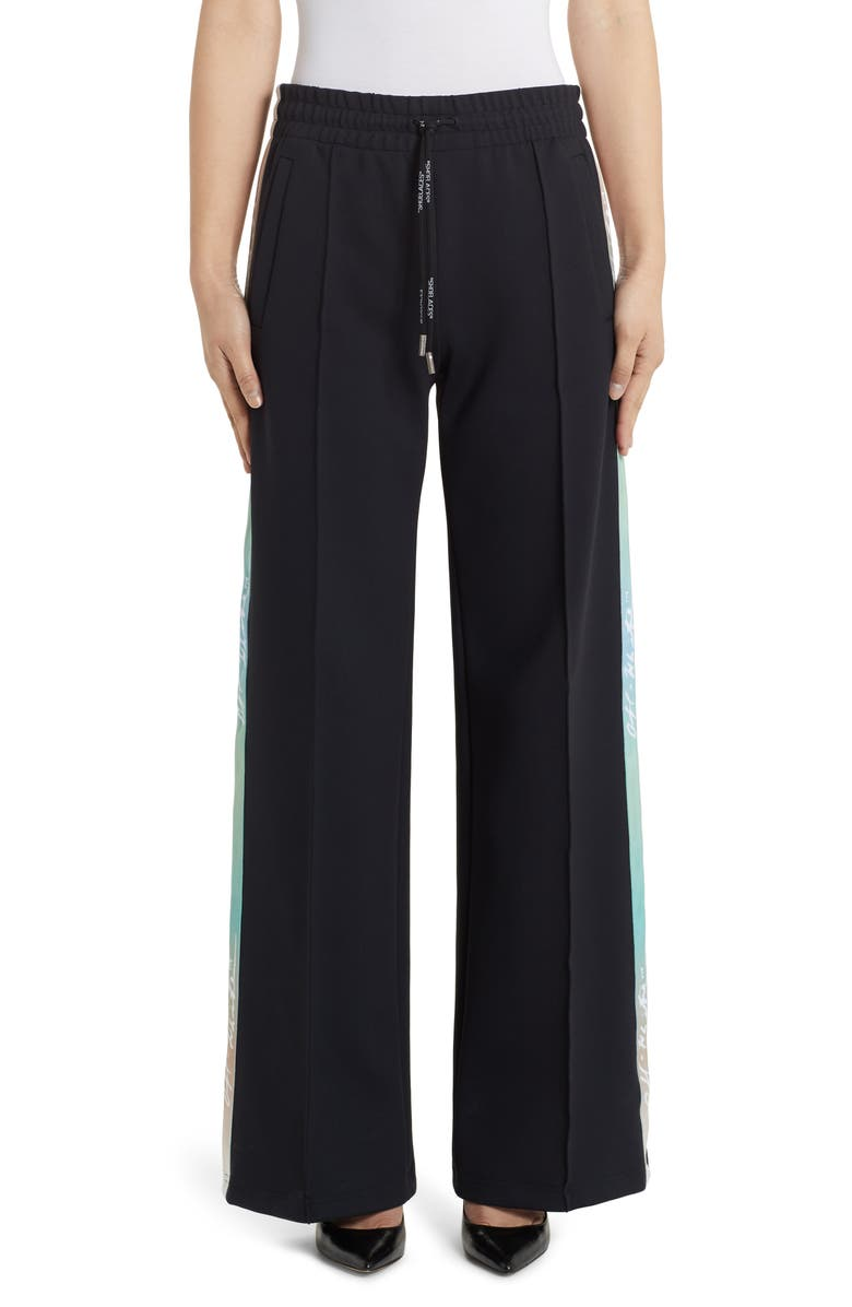OFF-WHITE Wide Leg Jersey Track Pants, Main, color, 001