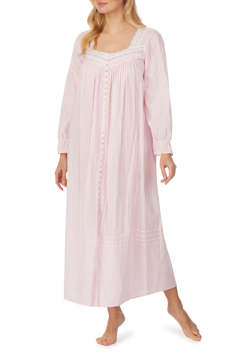 EILEEN WEST Ballet Button Front Robe, Main, color, ROSE