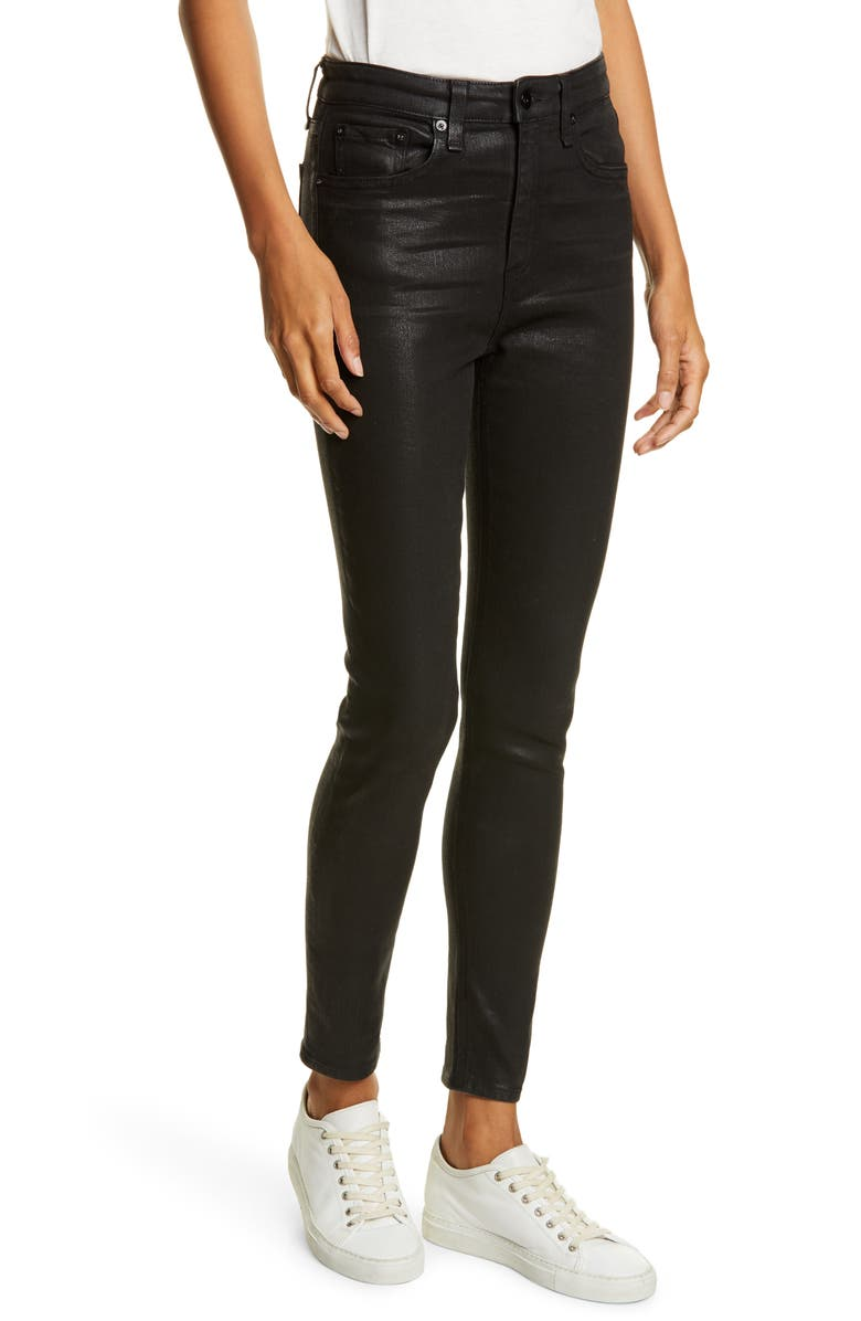 RAG & BONE Nina High Waist Ankle Skinny Jeans, Main, color, 001