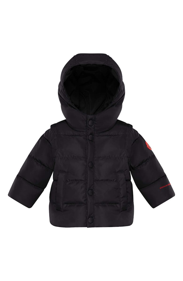 MONCLER Kids' Born to Protect Project Hasan Hooded Down Puffer Jacket, Main, color, Black