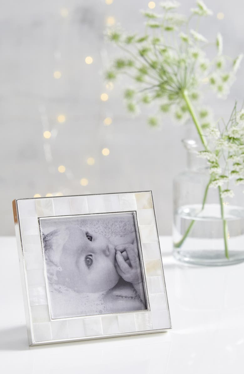 THE WHITE COMPANY Mother-of-Pearl Picture Frame, Main, color, WHITE