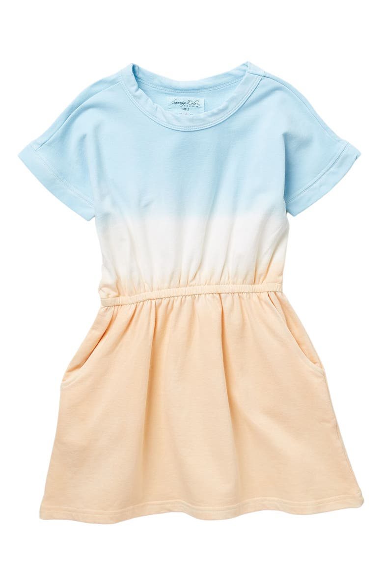 SOVEREIGN CODE Justice Ombre Knit Dress, Main, color, LT BLUE/ PEACH