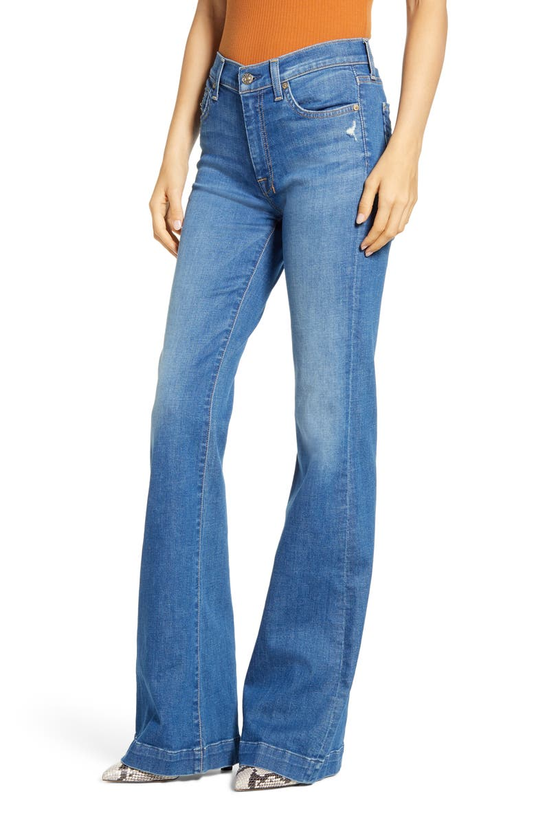 7 FOR ALL MANKIND<SUP>®</SUP> Dojo High Waist Flare Jeans, Main, color, 400