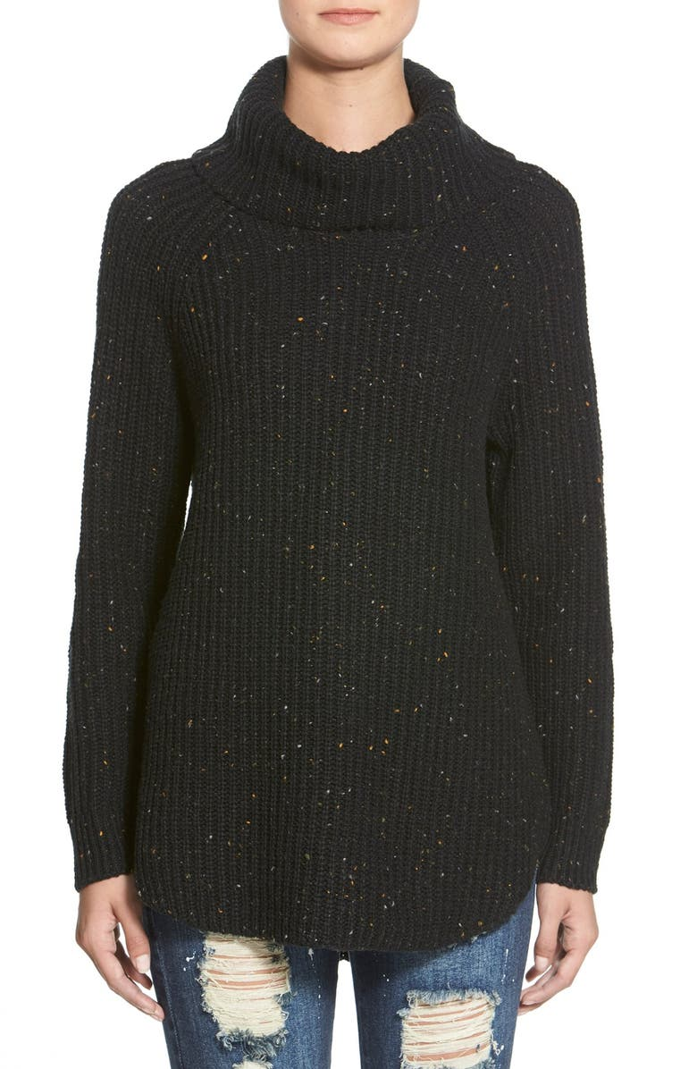 SUN & SHADOW Turtleneck Sweater, Main, color, 001