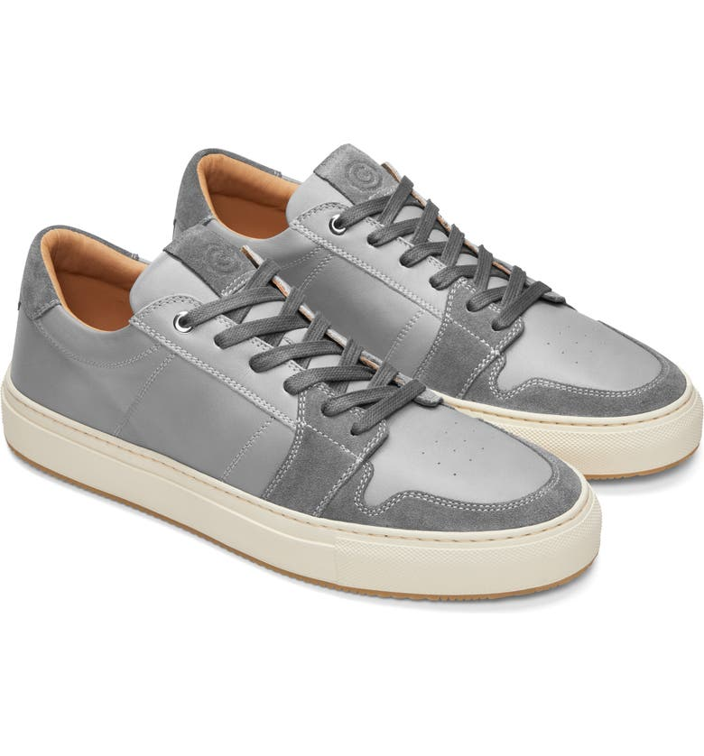 GREATS Court Sneaker, Main, color, GREY LEATHER