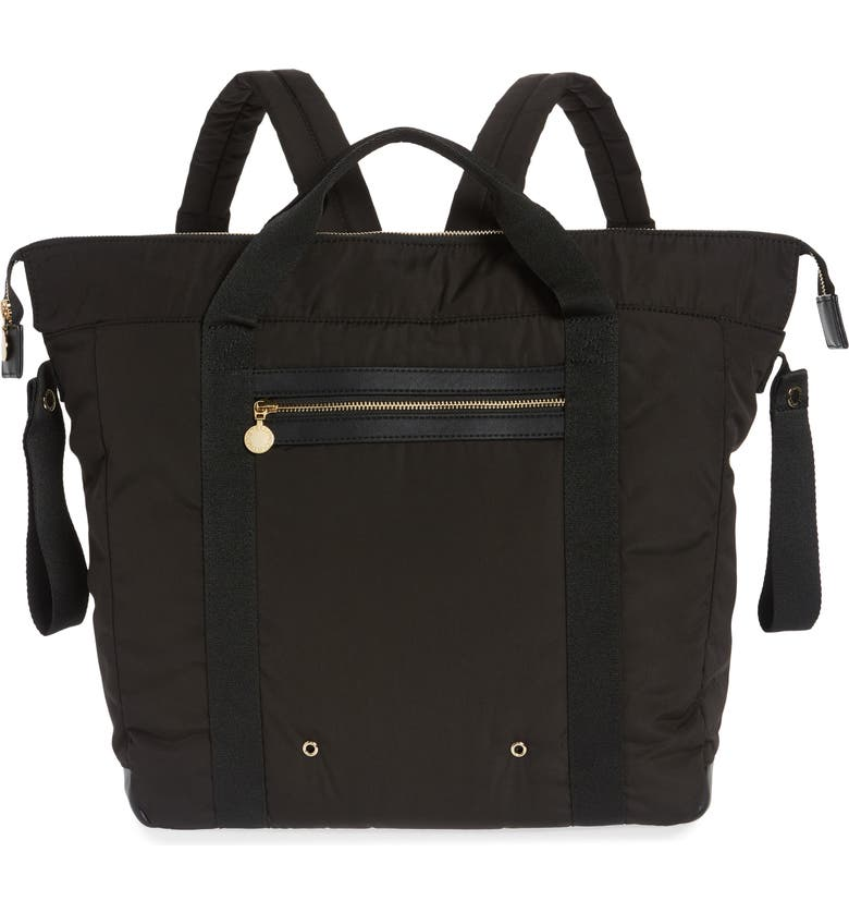 STELLA MCCARTNEY Diaper Backpack, Main, color, BLACK