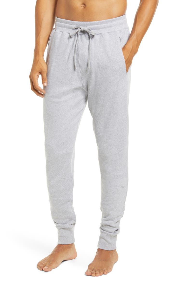ALO Base Sweatpants, Main, color, ATHLETIC HEATHER GREY