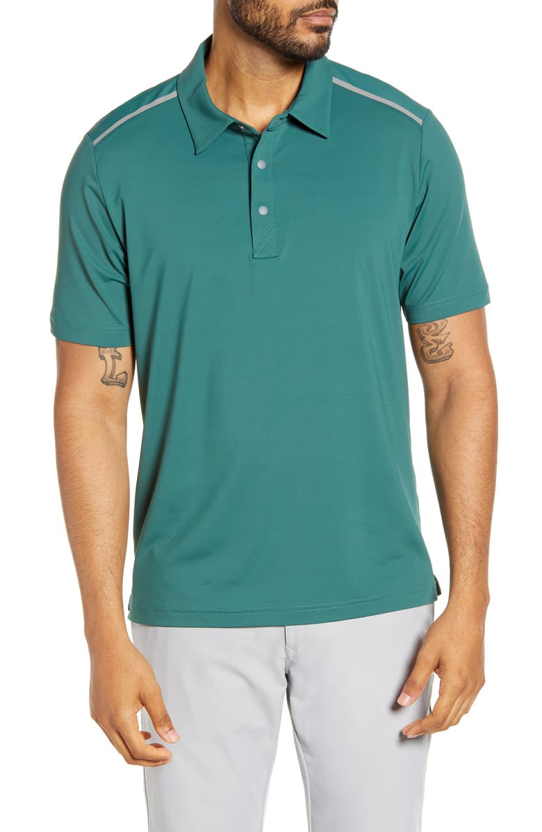 CUTTER & BUCK Fusion Classic Fit Polo, Main, color, SEAWEED