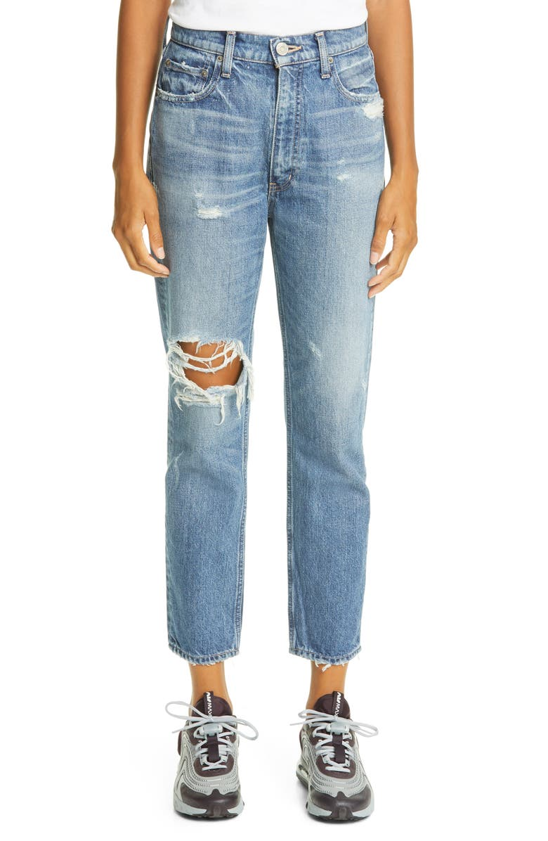 MOUSSY VINTAGE Marshall Boyfriend Skinny Jeans, Main, color, BLU 110