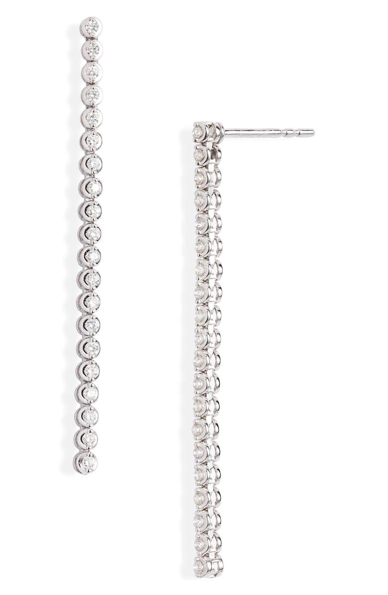 BONY LEVY Audrey Linear Diamond Earrings, Main, color, 711