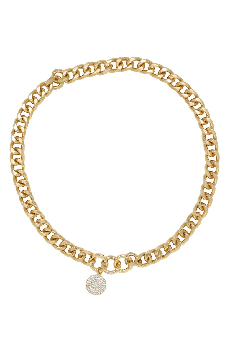 ETTIKA Crystal Disc Collar Necklace, Main, color, GOLD