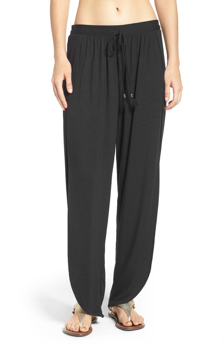 ROBIN PICCONE Side Split Cover-Up Pants, Main, color, 001