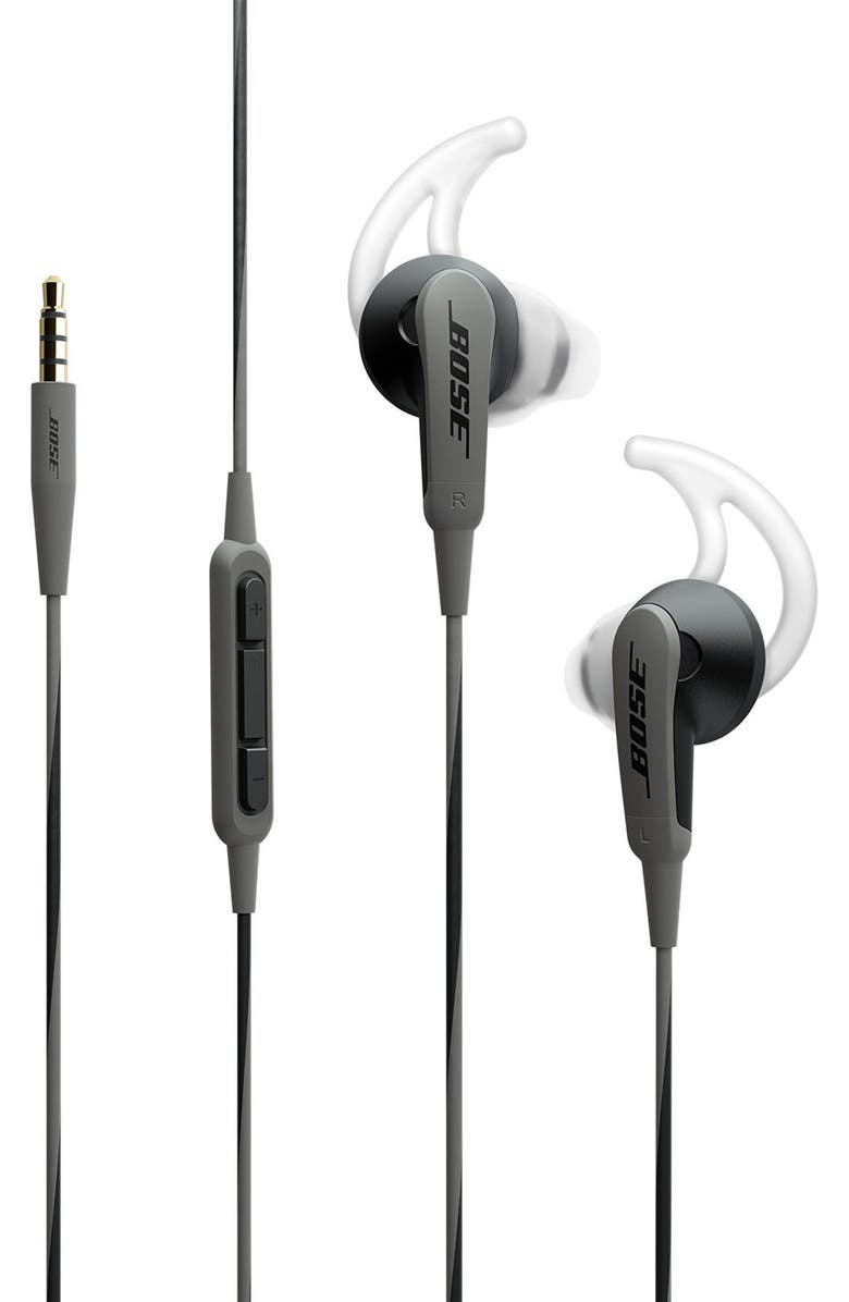 BOSE<SUP>®</SUP> SoundSport<sup>®</sup> In-Ear Headphones for Apple Devices, Main, color, BLACK