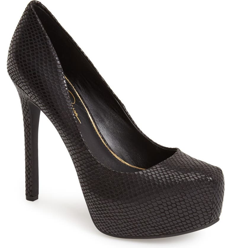 JESSICA SIMPSON 'Rebeca' Platform Pump, Main, color, 001