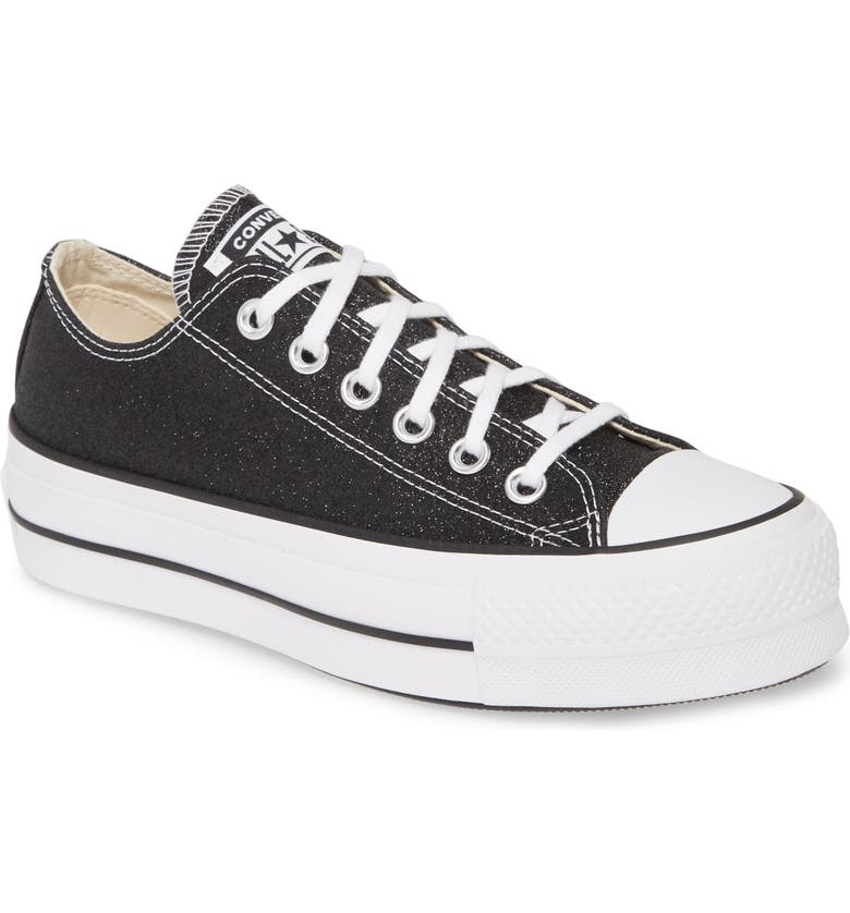 CONVERSE Chuck Taylor<sup>®</sup> All Star<sup>®</sup> Lift Low Top Platform Sneaker, Main, color, 001