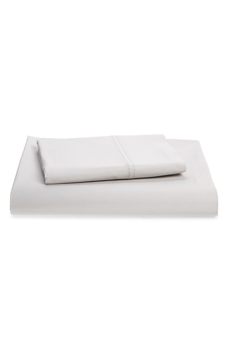 NORDSTROM 500 Thread Count Cotton Fitted Sateen Sheet & Pillowcases, Main, color, 050