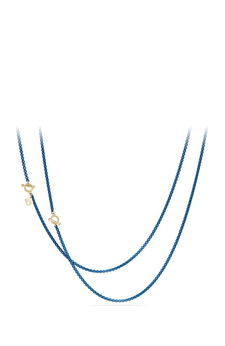 DAVID YURMAN DY Bel Aire Chain Necklace with 14K Gold Accents, Main, color, NAVY