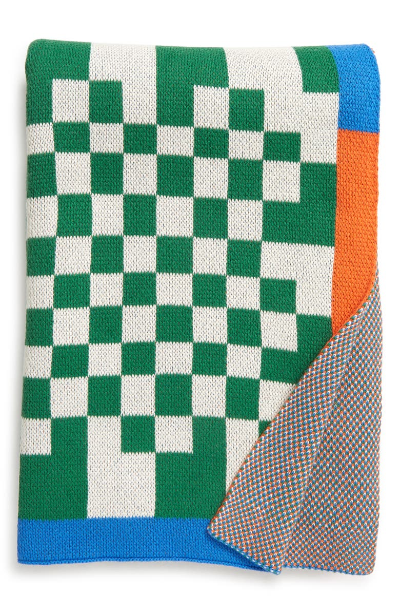 DUSEN DUSEN Check Throw Blanket, Main, color, 300