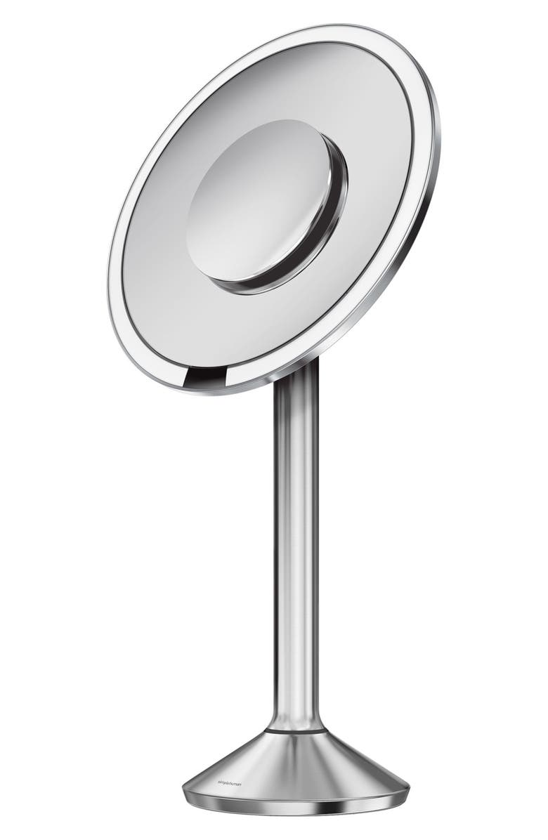 SIMPLEHUMAN 8 Inch Round Sensor Makeup Mirror Pro, Main, color, 040
