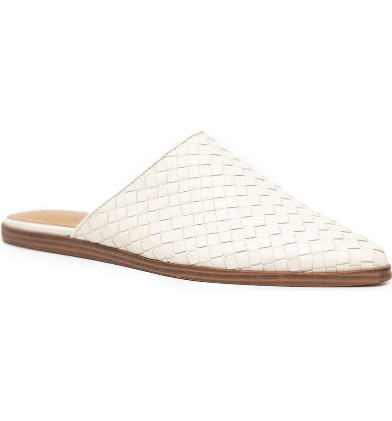 MARC FISHER LTD Garren Pointed Toe Mule, Main, color, IVORY LEATHER
