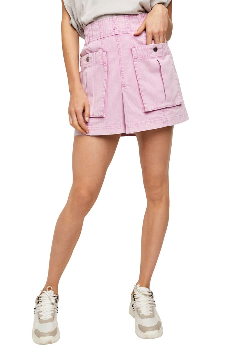FREE PEOPLE West Coast Wash Cotton Miniskirt, Main, color, VALLEY GIRL