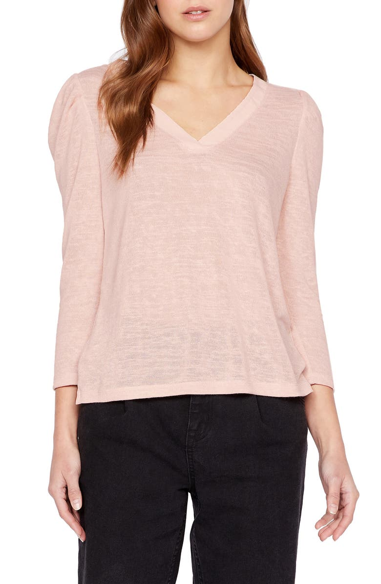 SANCTUARY Puff Shoulder Top, Main, color, MORNING PI
