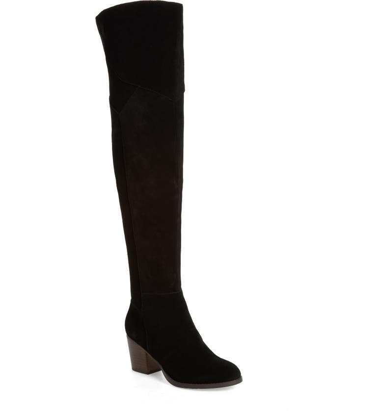 SOLE SOCIETY Catalina Over the Knee Boot, Main, color, BLACK SUEDE