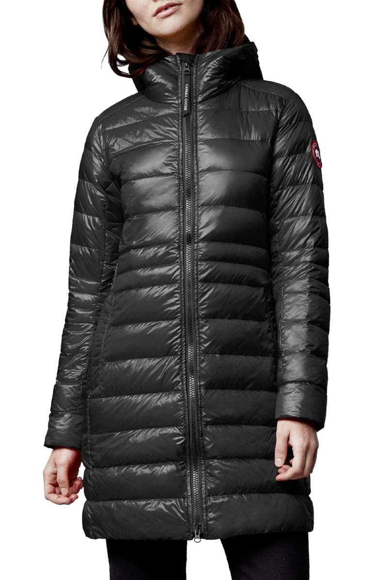 CANADA GOOSE Cypress Packable Hooded 750-Fill-Power Down Puffer Coat, Main, color, BLACK - NOIR