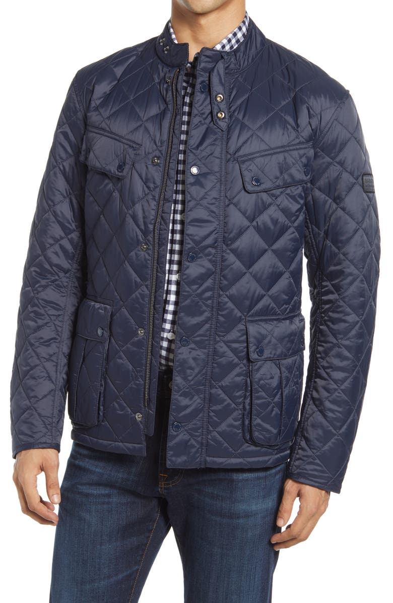 BARBOUR Ariel Quilted Jacket, Main, color, NAVY
