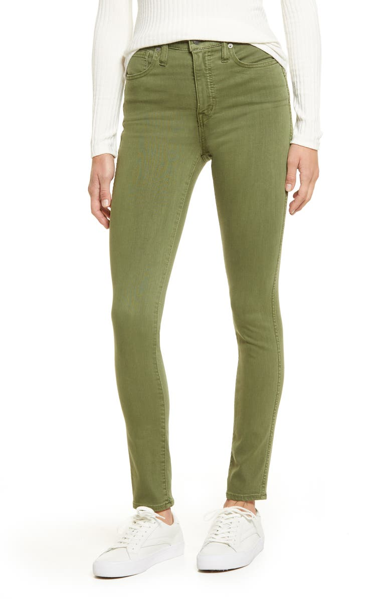 MADEWELL 10-Inch High Waist Skinny Jeans, Main, color, PALM TREE