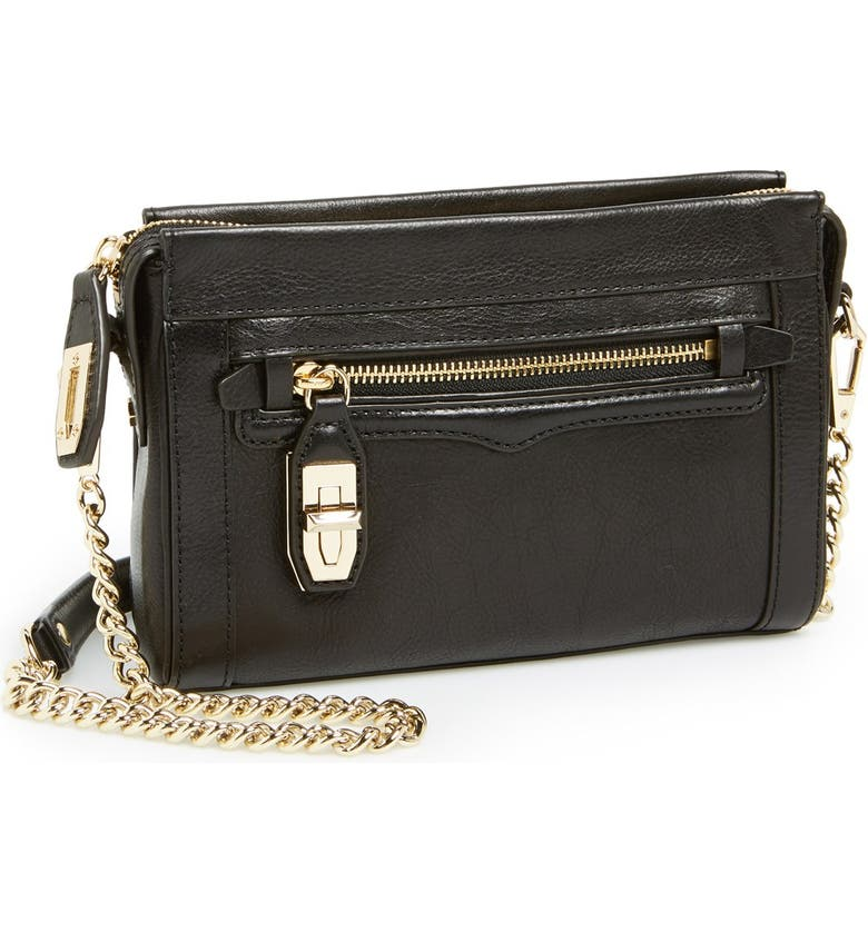 REBECCA MINKOFF 'Mini Crosby' Crossbody Bag, Main, color, 001